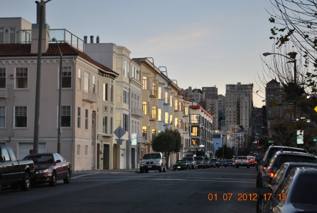 sundawn in the marina district in San Francisco
