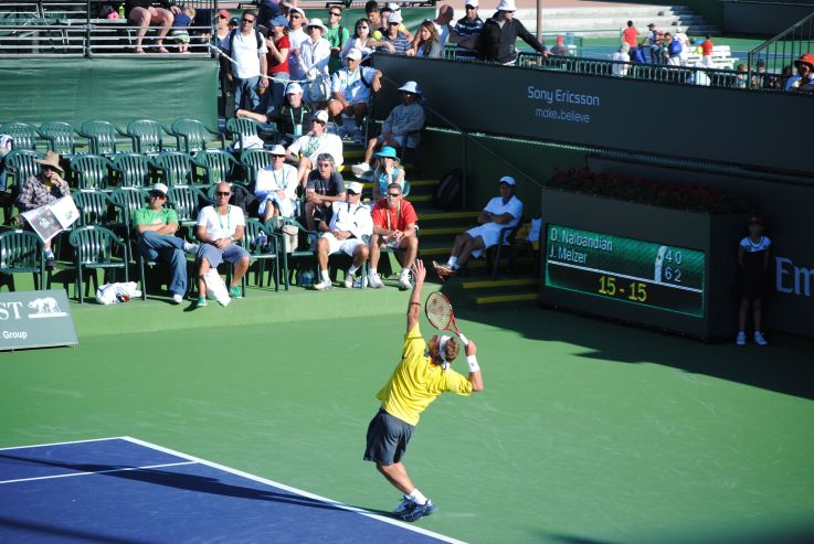 nalbandian serves at indian wells