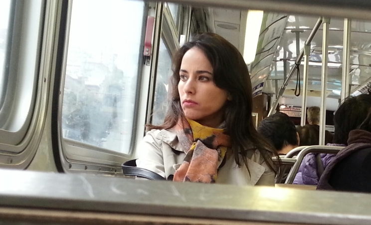 woman on sf muni deep look