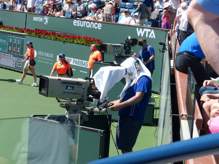 indian wells tennis camera operator