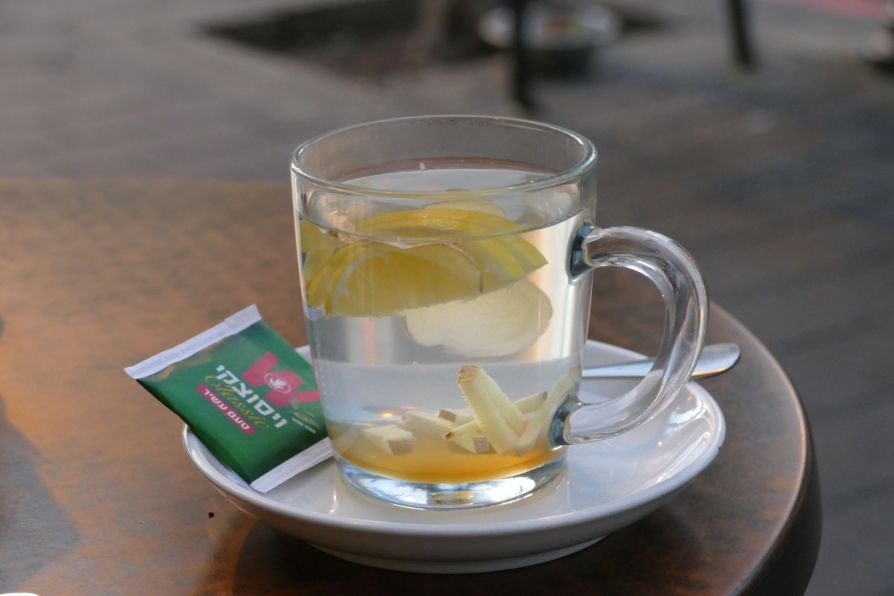 lemon ginger tea tel aviv