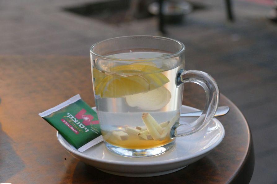 lemon ginger tea tel aviv