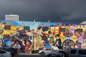 dramatic mural oakland